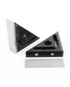 45 Degree Aluminium Magnetic Triangle Pocket Square Ruler